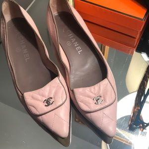 Chanel ballet pink flats
